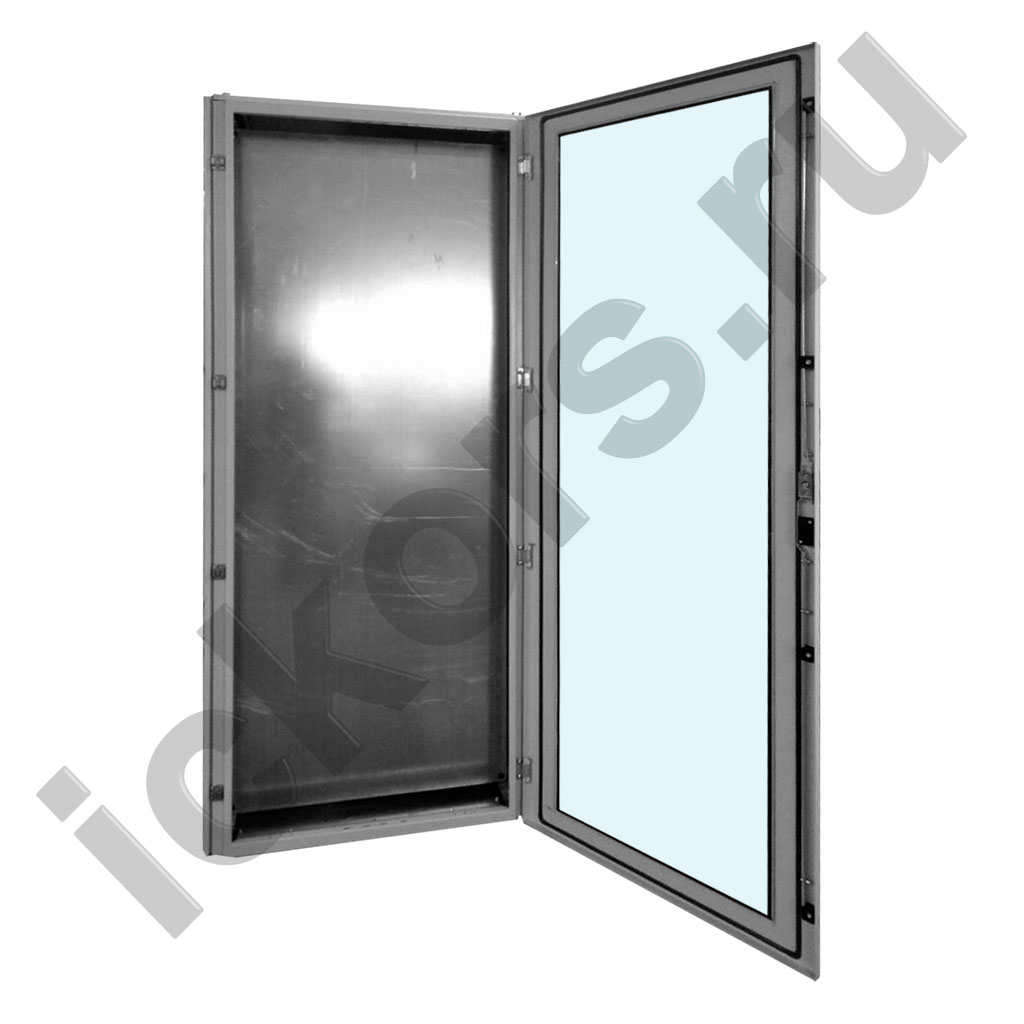Шкаф распределительный напольный с обзорной дверью металл