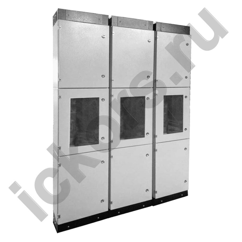Стойки приборные ВУ для фидеров из трех шкафов